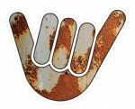 RUSTY NO WORRIES HAND Design For Rat Look VW Vinyl Car sticker decal 100x80mm